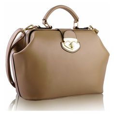Doctor Style Bag - love it! Leather Fashion, Fashion Handbags, Leather Handbags, Satchel, Nude, Tote Bag, Crystals, Shoulder, Ebay