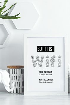 Modern Wall Art Prints – Instantly Printable Wifi Signs for Rental Decoration, by LinePrintable! Guest Room Sign, Be Our Guest Sign, Guest Bedroom Decor, Airbnb Design, Airbnb House, Home Decor Near Me, Wifi Password, Rental Decorating, Air B And B