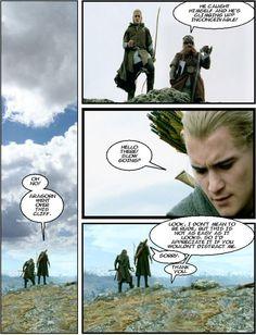 Princess Bride+Lord Of The Rings. Legolas as 'Inigo' Gimli as 'Vizzini' and Aragorn as 'Wesley.'