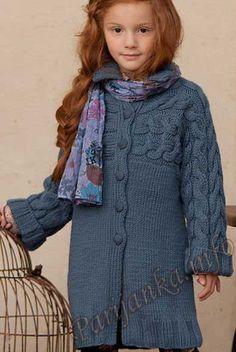 "Клуб ""Вязание и рукоделие"" Crochet Toddler, Crochet Girls, Crochet Baby, Knit Crochet, Knitting Patterns Free, Free Knitting, Baby Knitting, 2017 Fall Fashion Trends, Kids Coats"
