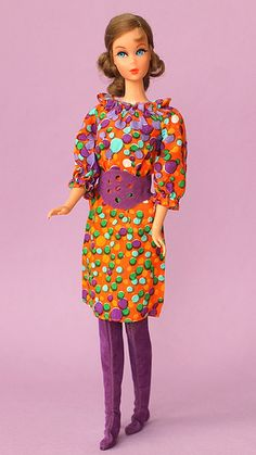 """Talking Barbie in #3421 """"Bubbles´n Boots"""" 1971 