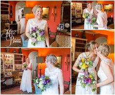 first look, two brides first look, high house farm brewery wedding, healey barn wedding, katie byram photography, two bride wedding, gay wedding photographer, newcastle wedding photographer, northumberland wedding venue, quirky wedding venues northumberland