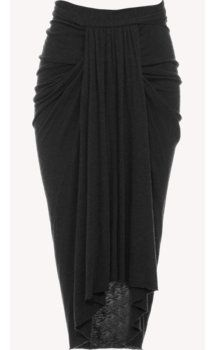 Rick Owens Lilies Flannelled Skirt