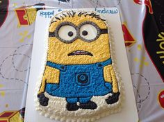 Minion Birthday Square Cakes Food Picture - Cake wallpaper