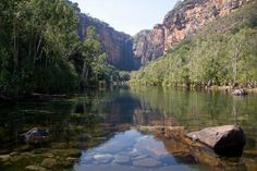 Northern Territory, #Australia: Jim Jim Falls from the viewing area