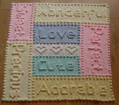 Precious Baby Blanket Crochet PATTERN by by PeachUnicornCrochet