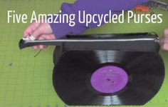 5 Amazing Upcycled Purses Made with Surprising Materials (VIDEOS) - Craftfoxes Old Records, Vinyl Records, Recording Studio Design, How To Make Purses, Home Studio Music, Diy Purse, Recycled Crafts, Antique Books, Electronic Music