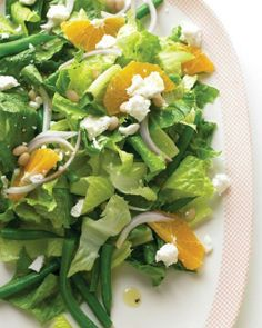 Mediterranean Salad with Green Beans and Feta Recipe