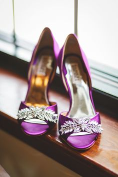 #BadgleyMischka Shoes | We may be seeing more of this color in 2014! See this wedding on SMP --  http://www.StyleMePretty.com/illinois-weddings/bloomington-illinois/2013/12/13/bloomington-country-club-wedding/  Rachael Schirano Photography