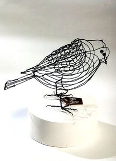 # steel wire bird.  Looks like a Calder to me