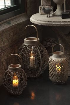 These lanterns would look stunning on a patio.  Soft lighting