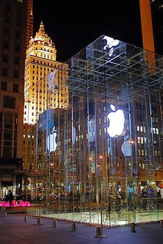 Apple Flagship Store on Fifth Avenue, New York City