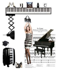 """MUSIC"" by etsyynb ❤ liked on Polyvore featuring Charlotte Olympia, Yamaha, Dolce&Gabbana, Fogal, WithChic, Ashley M, Hervé Léger, The Fragrance Kitchen and Design Letters"