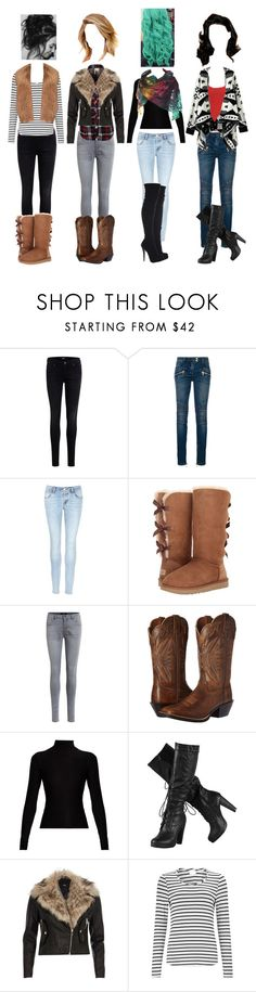 """winter"" by squeaky-silver-wright ❤ liked on Polyvore featuring Object Collectors Item, Balmain, J Brand, Simmons, UGG, Ariat, Acne Studios, River Island, EAST and Marni"
