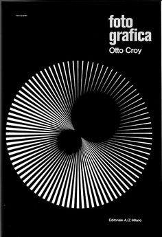 Franco Grignani - classic monochrome poster from an Italian master, Gfx Design, Design Art, Print Design, Op Art, Graphic Design Typography, Geometric Graphic Design, Geometric Art, Graphic Art, Grafik Design