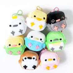 picture of Square Birdies Plushie Coin Pouches 1 Cute Crafts, Diy And Crafts, Arts And Crafts, Softies, Plushies, Japanese Toys, Kawaii Plush, Tokyo Otaku Mode, Cute Stuffed Animals