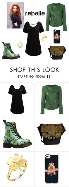 """""""Rebelle"""" by lizenn-annah-binet ❤ liked on Polyvore featuring WithChic, Twin-Set, Dr. Martens and Casetify"""