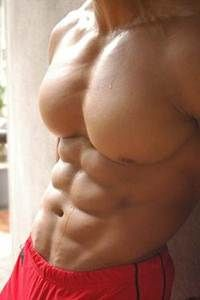 Well Developed Chest Muscles