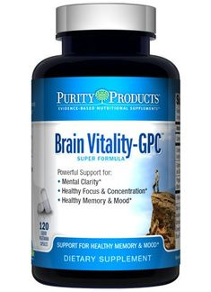 Brain Vitality-GPC (Acetyl L-Carnitine) Super Formula by Purity Products - 120 Capsules -- Check out this great product.