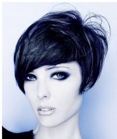 short cheekbone length bob   Women cool bob haircut with layers and short length in the back with ...