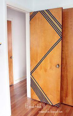 geometric washi tape door design.