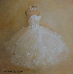 ballet Tutu painting Treasury item original ooak by 4WitsEnd