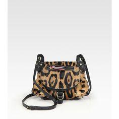 Jerome Dreyfuss Twee Mini Haircalf Messenger Bag ($770) ❤ liked on Polyvore