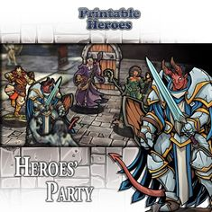 image relating to Printable Heroes Patreon referred to as 54 Most straightforward Paper Miniature Releases photos within 2018 Miniature
