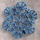 Winter Ice Snowflake pattern by Deborah Atkinson