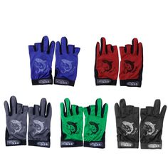 1 Pair 방수 3 컷 손가락 미끄럼 방지 미끄럼 방지 낚시 장갑 야외 스포츠 100% 새로운 브랜드 품질