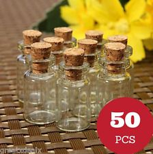 Mason Jars Small Perfect Glass Bottle Vintage Cork Eco Friendly Lot Set 10 PC'S