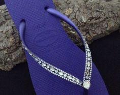 Beach Bridal Octagon Rocks Swarovski Crystal by GlassSlippersCC