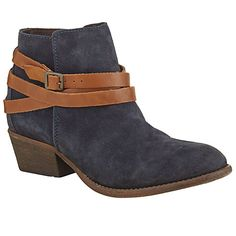 Buy H by Hudson Horrigan Strapped Ankle Boots, Navy Suede Online at johnlewis.com