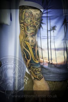 Extreme tattoo&piercing,Japanese sleeve in progress,Samurai mask,Fort William.Highland.Realistic tattoo, Black and grey tattoo, Japanese tattoo, Traditional tattoo, Floral tattoo, Chinese tattoo, Fine line art tattoo, Old school tattoo, Tribal Tattoo, Maori tattoo, Religious tattoo, Pin-up tattoo, Celtic tattoo, New school tattoo, Oriental tattoo, Biomechanical tattoo
