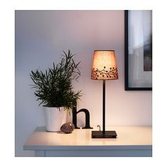 """IKEA lamp!  SKEBY Shade - gray, 6"""" ($5) and Hemma base, ($10)"""