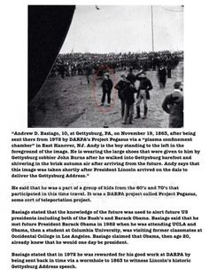 This man claims he is a time traveler and is in this picture of the Gettysburg address