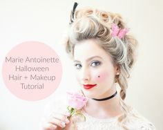 Marie Antoinette Halloween Hair + Makeup Tutorial!   A Touch of Pink Blog