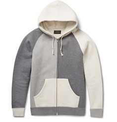 Upgrade your downtime roster with Beams Plus' colour-block hoodie. Made from plush fleece-back cotton-jersey, it's rendered in a trio of neutral hues that make it endlessly versatile. Shown here with a Junya Watanabe jacket and jeans, Maison Margiela T-shirt, White Mountaineering socks and adidas Consortium sneakers.