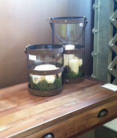 New leather and glass candle holders available at #hpmkt Fall 2013.