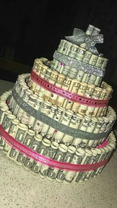 trendy birthday gifts for daughter money cake Birthday Goals, Sweet 16 Birthday, Diy Birthday, Happy Birthday, 16 Birthday Cake, Birthday Quotes, 23rd Birthday, 17th Birthday Gifts, Birthday Money