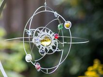Windspiel Edelstahl Planetensystem (mittel)
