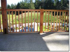 Wood Deck Railings Check out lots of Deck Railing Ideas http://awoodrailing.com/2014/11/16/100s-of-deck-railing-ideas-designs/