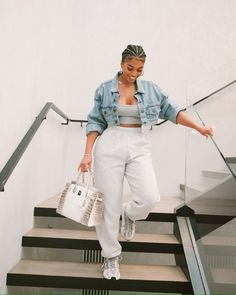 Baddie Outfits Casual, Chill Outfits, Cute Casual Outfits, Black Girl Fashion, Look Fashion, Fashion Outfits, Looks Street Style, Looks Style, Lori Harvey
