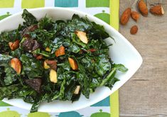 Kale Salad with Apricots and Almonds