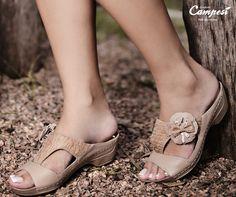 Passos leves e delicados, 24h por dia! Com Campesí nos pés, tudo fica melhor!