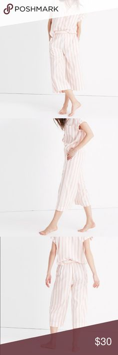 Madewell Oxford Bedtime Pajama Pant Washed but never worn!  Lightweight cotton pink and striped Oxford bedtime pajama pant from Madewell in a size XS.  Cropped and perfect for summer! Madewell Intimates & Sleepwear Pajamas