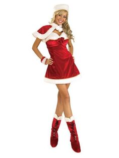 Christmas Costumes Sexy Miss Santa Costume for Adult - Sexy Miss Santa Costume for Adult, Classic Halloween Costumes, Creative Halloween Costumes, Christmas Costumes, Costume Halloween, Halloween Stuff, Costume Shop, Costume Dress, Adult Costumes, Costumes For Women