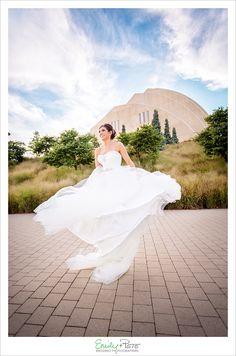 Emily + Pete: Wedding Photographers Spirit. Spontaneity. Harmony. www.emily-pete.com Lawrence. Kansas City. Beyond.  Fall Kansas City Wedding Kauffman Center for the Performing Arts Bridal Spin Twirl in Dress