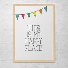 Poster Happy Place - R$ 59,00 no MercadoLivre