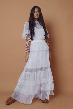 Mesh Maxi Dress - Ladies New In - What's New Winter Essentials, Batwing Sleeve, No Frills, Fashion News, Fashion Forward, Latest Trends, White Dress, Mesh, Slip On